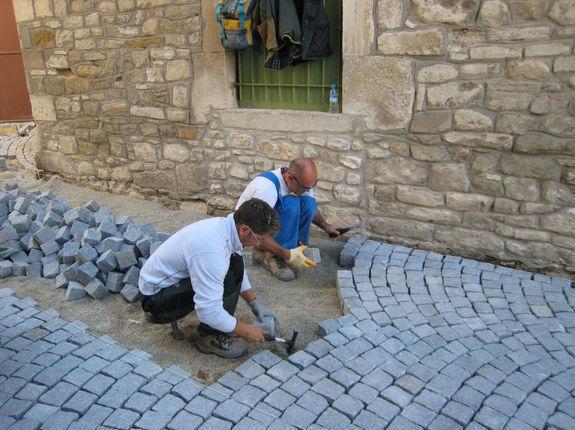 Pavage en pierre